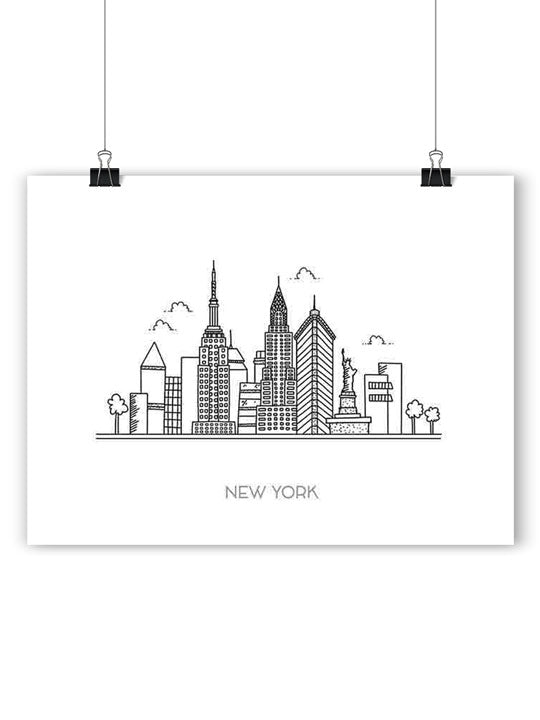 New York Skyline - Poster