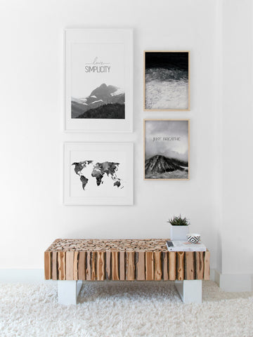 World-Map-Watercolor-Black-Poster-affiche