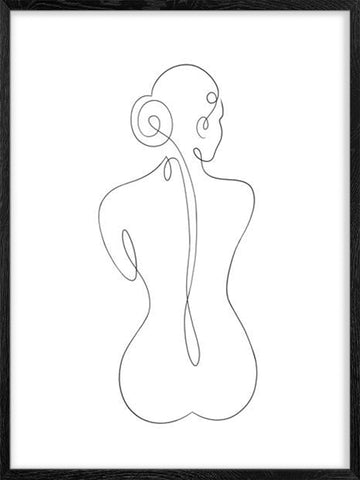 Nude-Line-Art-female-abstract poster-Posterwol