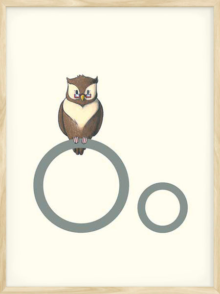 O is for Owl - Poster
