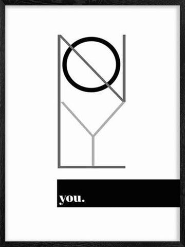 Only-You-Poster-in-Black-and-White-with-frame