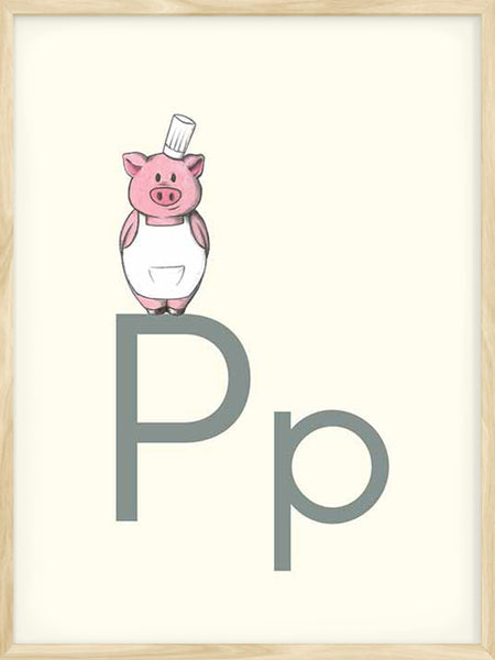 P is for Pig - Poster