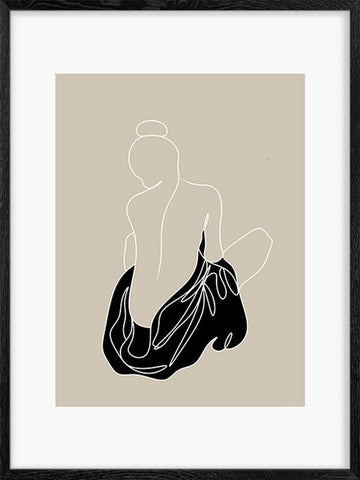 Muse-in-Black-Abstract-Art-Line-Poster