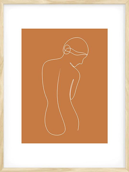 Femininity in Burnt Orange - Poster