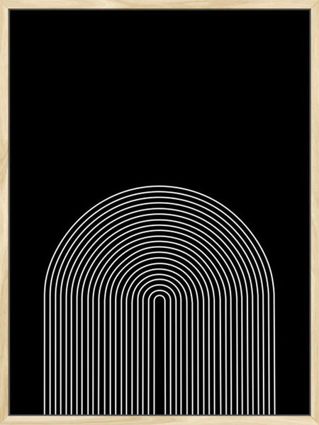 Minimalist Rainbow in Black- Poster