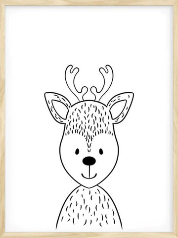 Minimalist-Deer-Drawing-Art-Poster-for-Kids-by-Posterwol