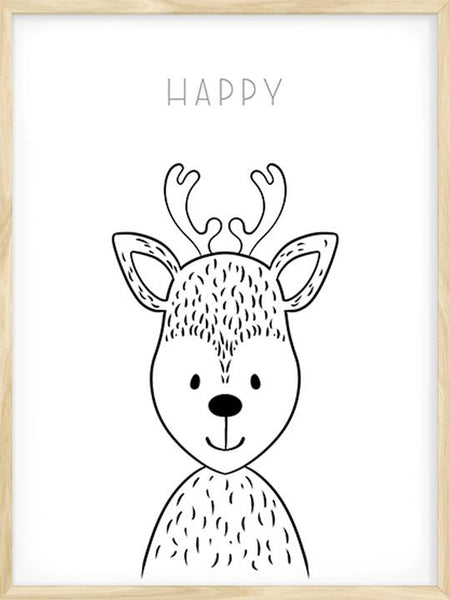 Happy Deer - Poster