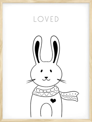 Loved-Rabbit-Art-Poster-by-Posterwol