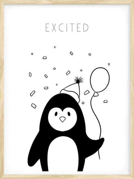 Excited Penguin - Poster