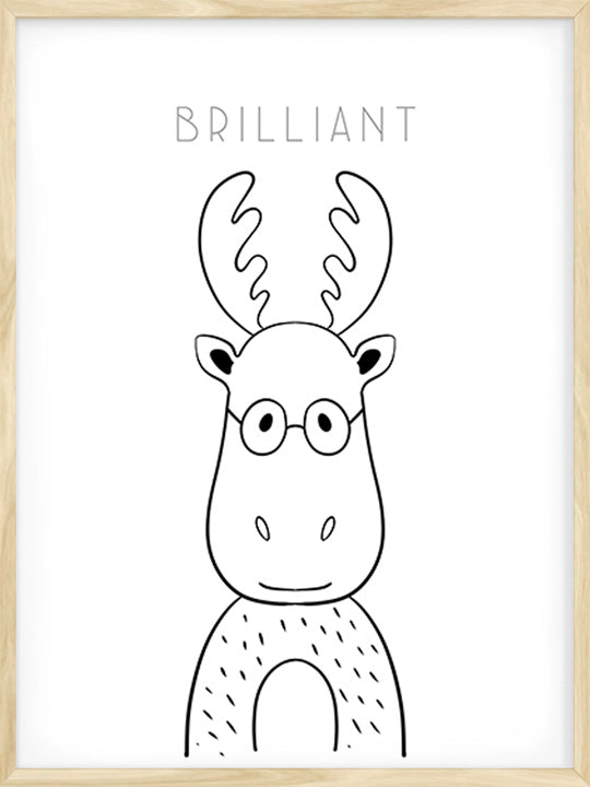 Brilliant Moose - Poster