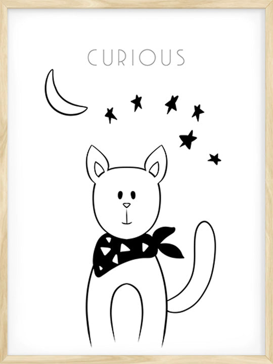 Curious Kitty - Poster