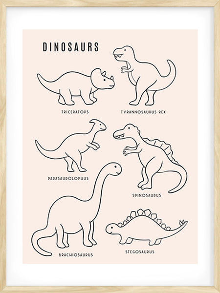 Dinosaurs - Rose - Poster