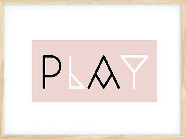 Play - Pink - Poster
