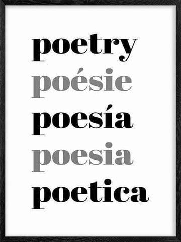Poetry-poesie-typography-poster-with-frame