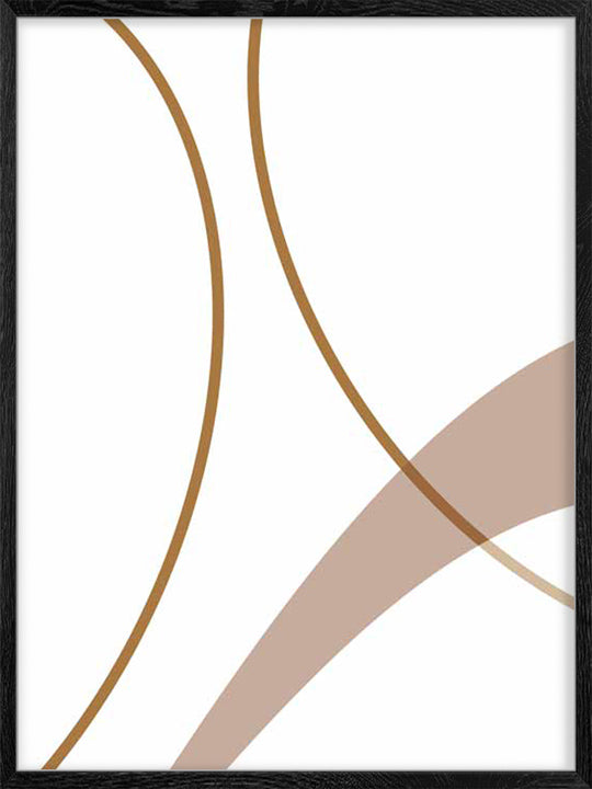 Earthy Abstract Lines - Poster