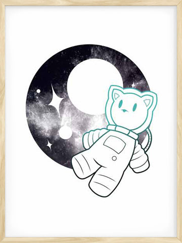 Posterwol-Astronaut-kitty-poster-modern-art-decor-for-kids-and-baby-rooms