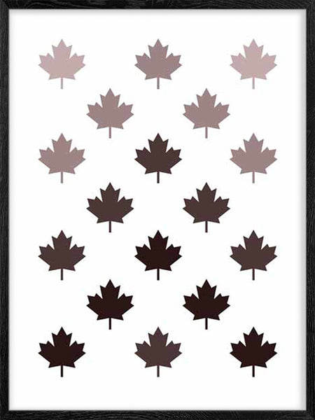 Canadian Maple Leaf Pattern 3 - Poster