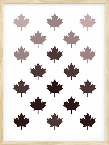 Posterwol-Canada-Maple-Leaf-Pattern-Minimalist-Stylish-Design-Earthy-Tones-Art-Poster-Decor