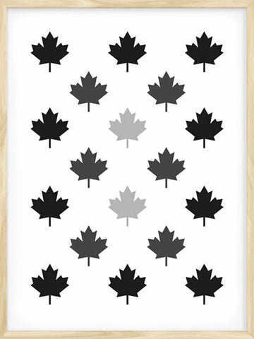 Posterwol-Maple-Leaf-Monochrome-Geometric-Art-Print-Decor