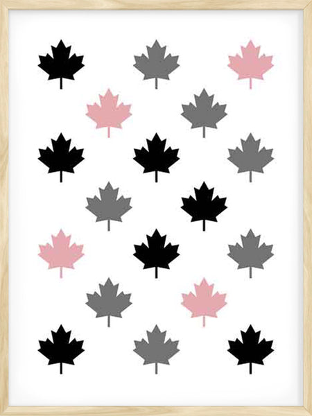 Canadian Maple Leaf Pattern 2 - Poster