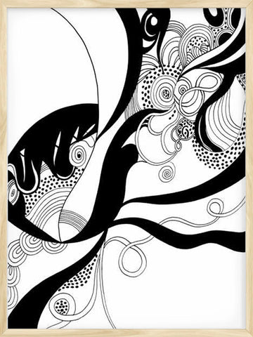 Posterwol-Organics-Poster-Number-1-Black-and-white-wall-art