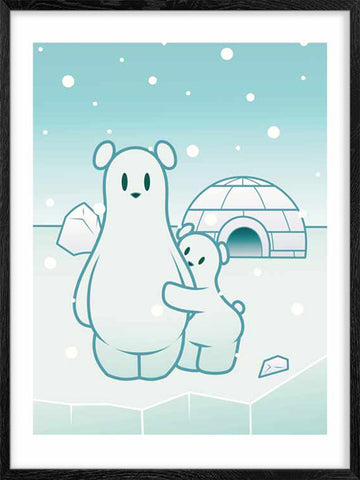 Posterwol-Polar-Bears-modern-art-poster-for-nursery-rooms
