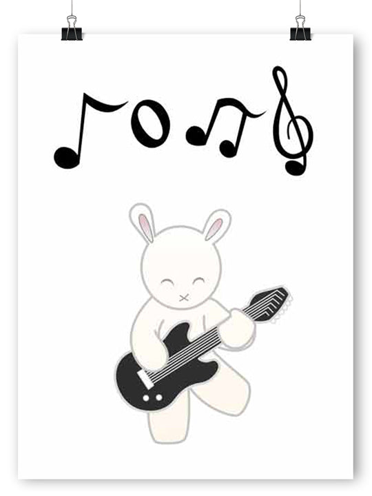 Rock Star Rabbit - Poster