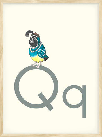 Q-is-for-Quail-animal-alphabet-neutral-decor-for-boys-and-girls