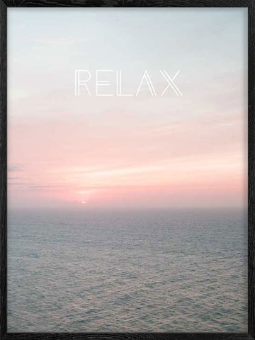 Relax-Ocean-poster-with-frame
