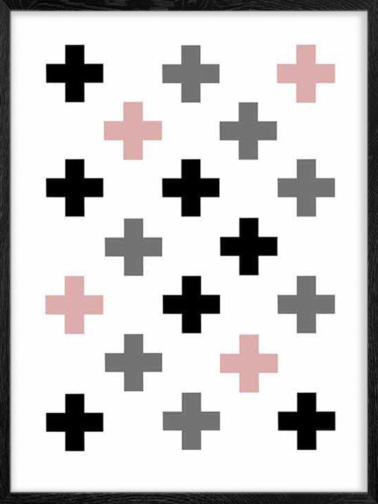 Swiss Cross Colour Pattern - Poster
