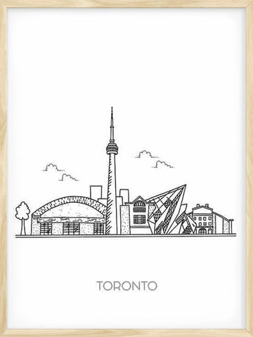 TORONTO-city-black-and-white-minimalist-poster