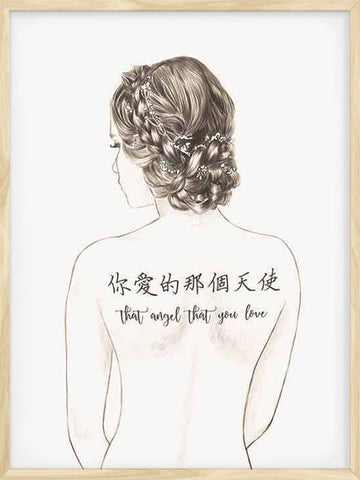 That-Angel-that-You-Love-Tatoo-Sketch-Girl-modern-print