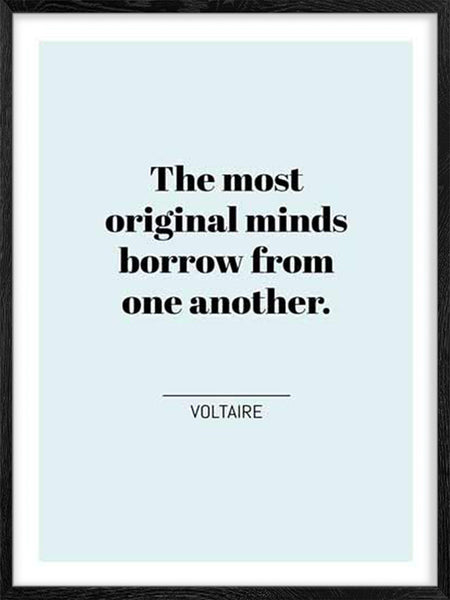 Voltaire's Quote - Poster