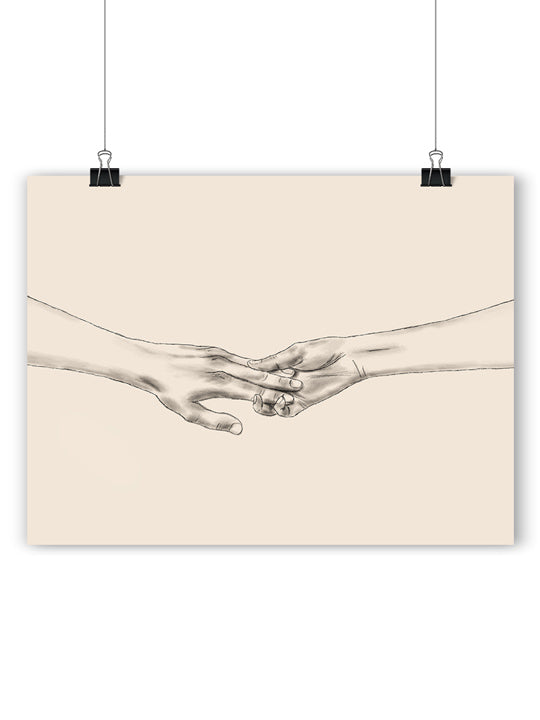 Touching Hands - Poster