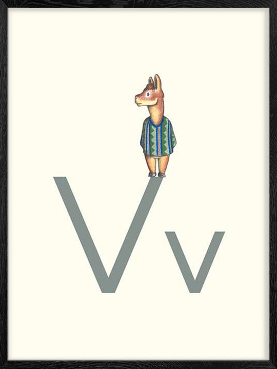 V is for Vicuna - Poster