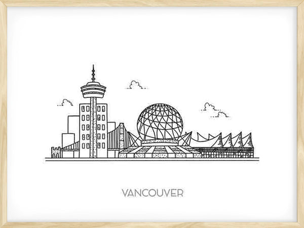 Vancouver Skyline - Poster