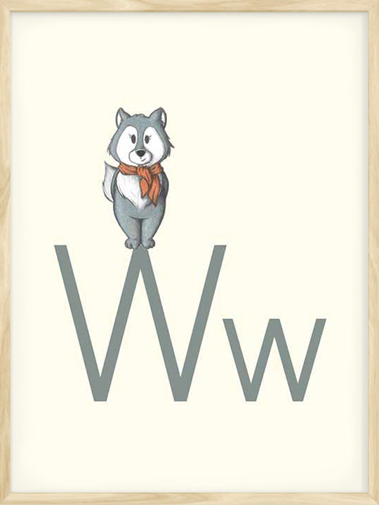 W is for Wolf - Poster