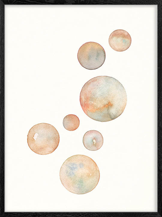Watercolour Globes - Poster
