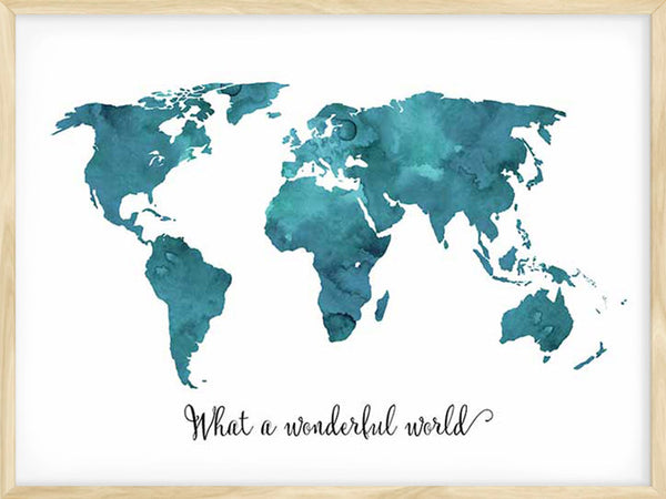 What A Wonderful World - Blue - Poster