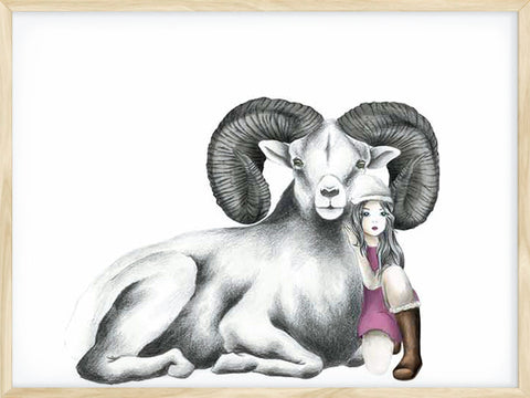 avatar-bighorn-sheep-kids-poster-wooden-frame
