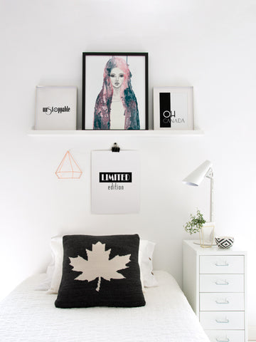 Oh-Canada-Black-and-white-Poster-with-frame