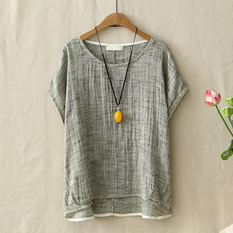 Lotus Retro Linen Top