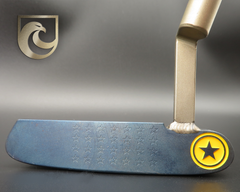 American Putter Company Oak Dale Right Hand Diamond Blue Carbon Putter with Weld Neck (COA 356)