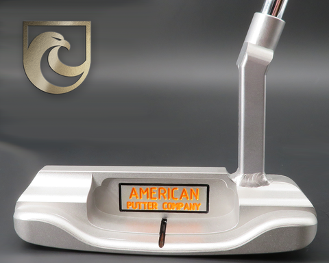 American Putter Company Oak Dale Left Hand Stainless S3 Finish Putter with Weld Neck (COA 352)