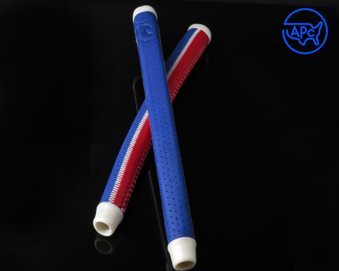 American Putter Company Red & Blue Patchwork Signature Series Leather APC Grip