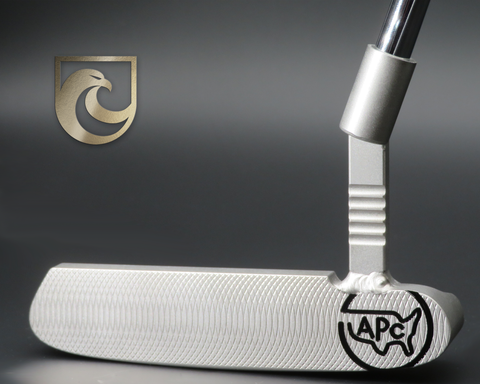 American Putter Company Oak Dale RightHand Stainless S3 Finish Putter with Weld Neck (COA 348)