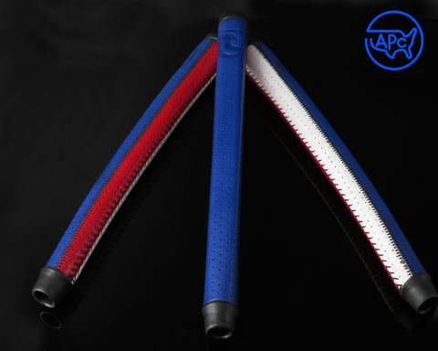 American Putter Company Red, White & Blue Patchwork Signature Series Leather APC Grip