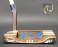 American Putter Company Oak Dale Right Hand, Mocha Finish on Carbon Putter with Weld Neck (COA 360) : Sound Slot
