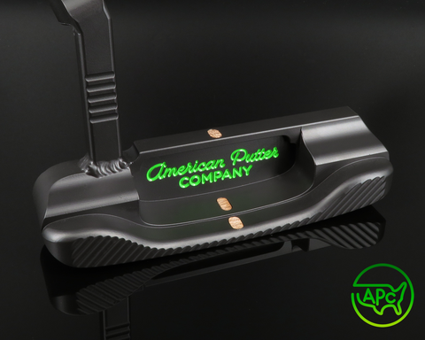 American Putter Company Stainless Oak Dale in Super Black Finish with Weld Neck