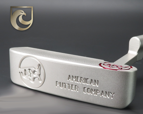 American Putter Company Oak Dale Right Hand Stainless S3 Finish Putter with Weld Neck (COA 343)